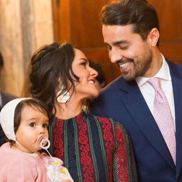 Julieta com os pais, Francisca e Ricardo Pereira (Foto: Reprodução Instagram)