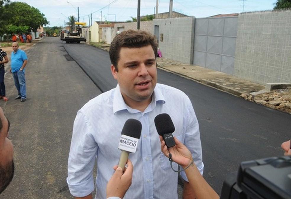 Marcelo Palmeira, vice-prefeito de Maceió, em foto de arquivo, antes da pandemia da Covid-19 — Foto: Marco Antônio/ Secom Maceió