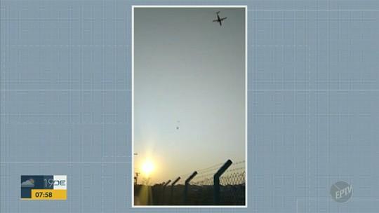 Vídeo mostra balão perto de Aeroporto de Viracopos em Campinas
