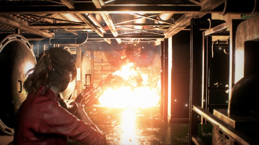 Resident Evil 2 promete trazer mais ação e explosões que o sétimo game da franquia (Foto: Reprodução/DSO Gaming)