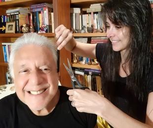 Antonio Fagundes e Alexandra Martins   Arquivo pessoal