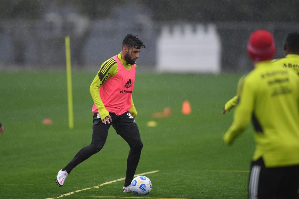 Yuri Alberto deve voltar ao time do Inter no Brasileirão — Foto: Ricardo Duarte/DVG/Inter