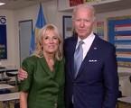 Joe Biden e a mulher, Jill Biden, durante a convenção democrata   Divulgação