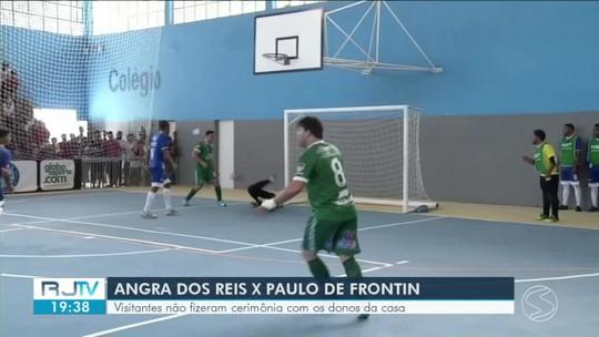 Lucão brilha no gol e na linha, e Paulo de Frontin vence Angra dos Reis por 3 a 1