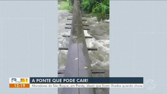 Moradores reclamam de falta de ponte no bairro São Roque, em Paraty