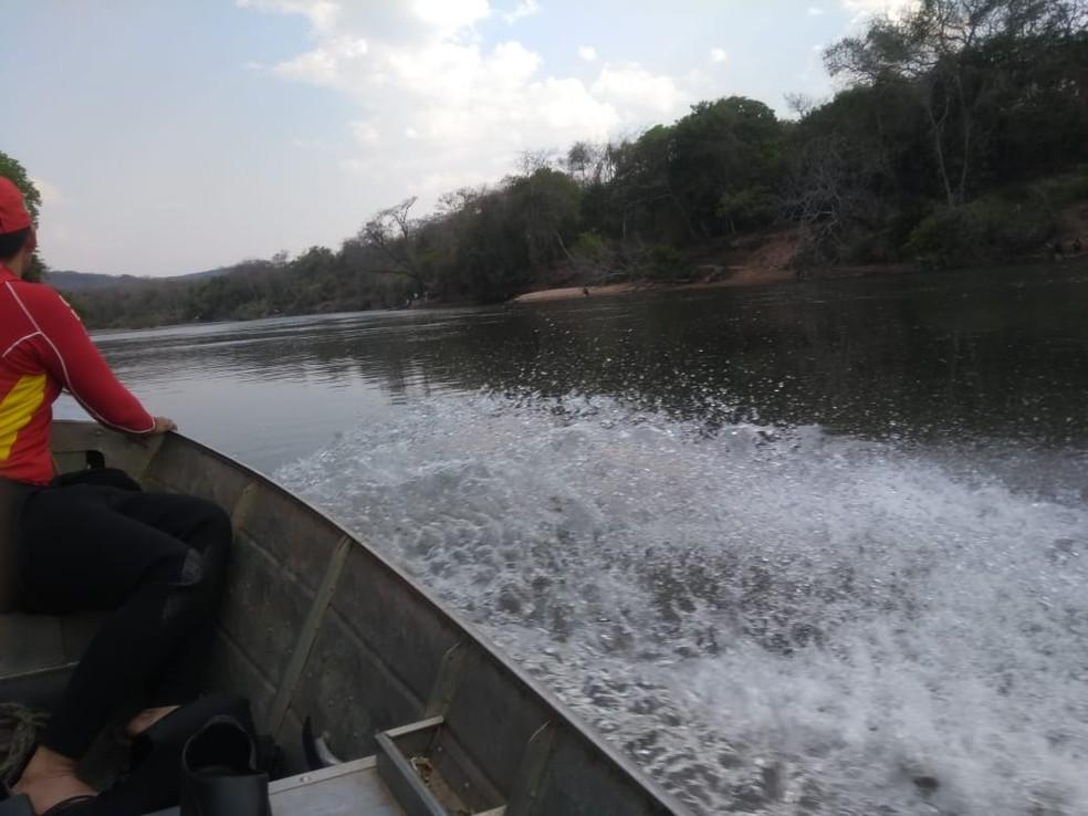 Corpo de homem é encontrado por pescador, no rio Aquidauana (MS). — Foto: O Pantaneiro