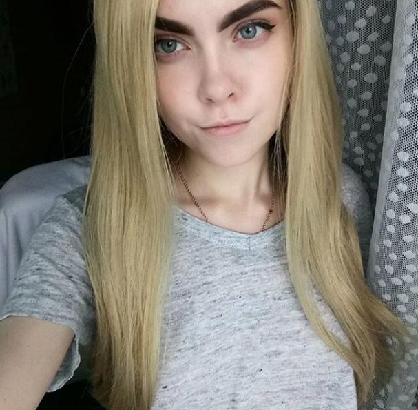 Garota russa se transforma em personagens famosos (Foto: Reprodução/Instagram)