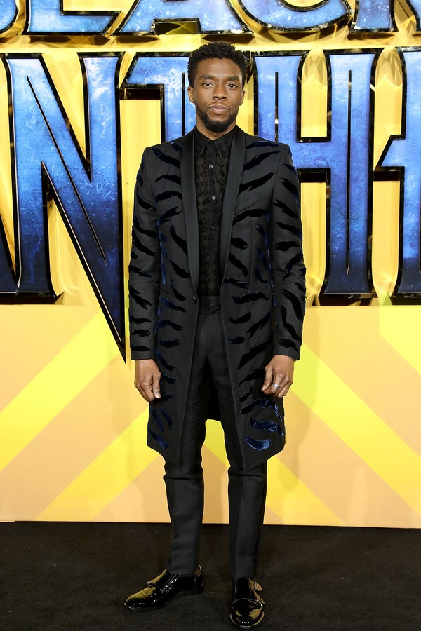 LONDON, ENGLAND - FEBRUARY 08:  Chadwick Boseman attends the European Premiere of 'Black Panther' at Eventim Apollo on February 8, 2018 in London, England.  (Photo by Tim P. Whitby/Tim P. Whitby/Getty Images) (Foto: Tim P. Whitby/Getty Images)