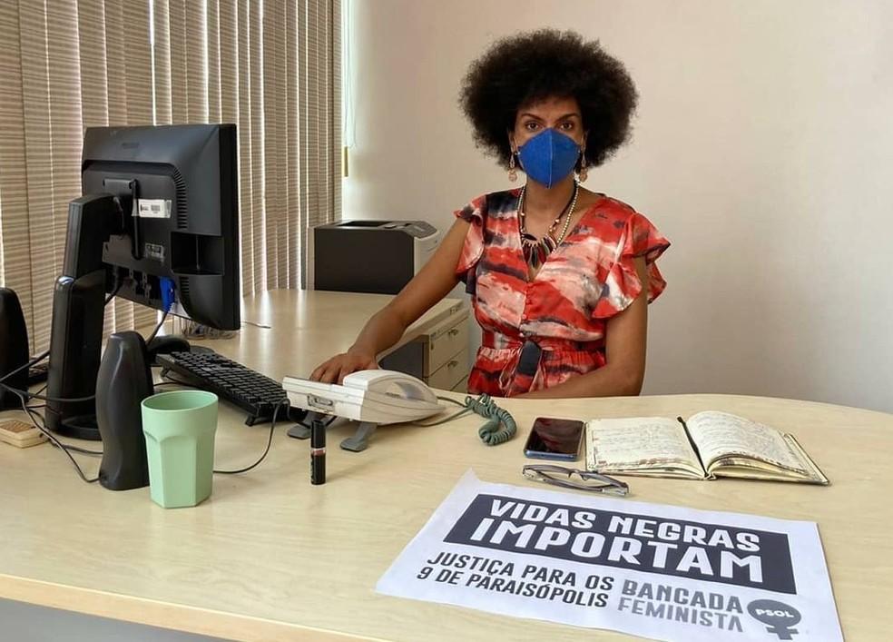 A covereadora do PSOL, Carolina Iara. — Foto: Acervo Pessoal