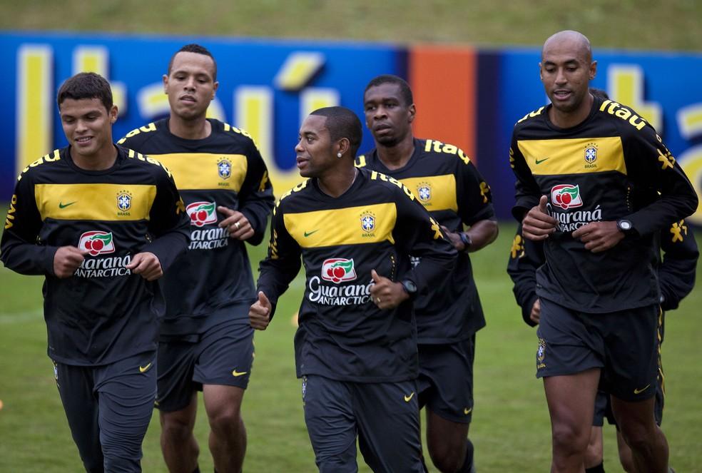 Thiago Silva é o único remanescente da Seleção da Copa de 2010 (Foto: AP )