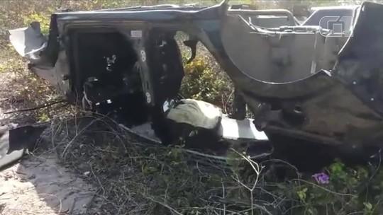 PRF descobre 'cemitério' de veículos roubados em Chorozinho, no Ceará