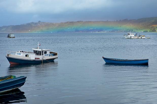 Lifestyle viagem Chile - O arco-íris de (quase) todo dia (Foto: Carol Gherardi )