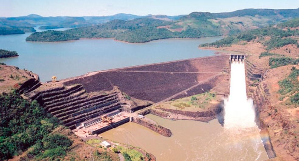 A Usina Hidroelétrica do Foz do Areia, em Pinhão — Foto: Prefeitura de Pinhão/Divulgação