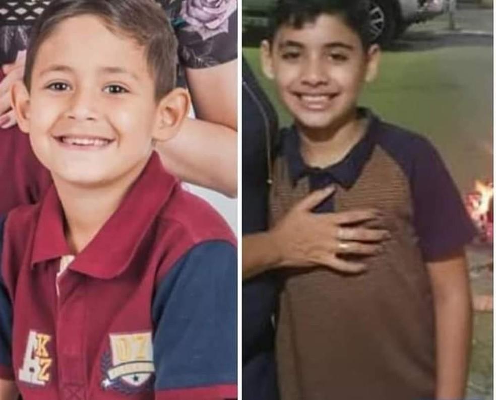 Gabriel e Natan morreram atropelados por um caminhão-pipa em Toritama — Foto: WhatsApp TV Asa Branca/Reprodução