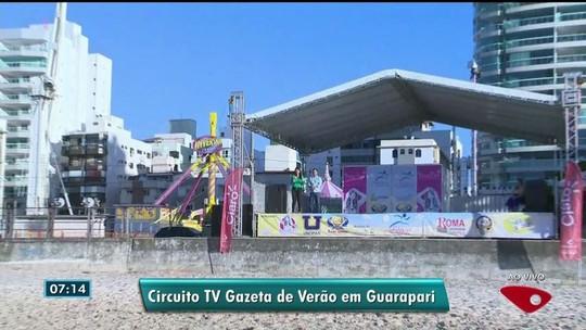 Circuito de Verão da TV Gazeta chega à Praia do Morro, em Guarapari