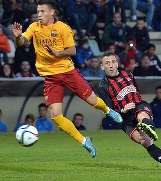 Maxi Rolón, em ação pelo time B do Barcelona (Foto: CF REUS DEPORTIU / Divulgação)