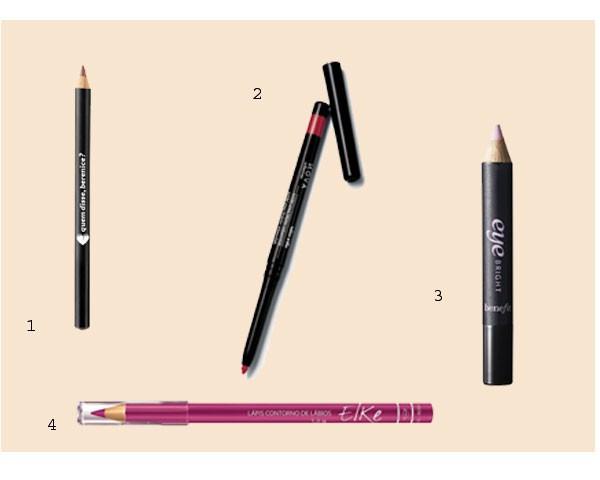 Lápis para os lábios e iluminador: uma solução prática (Foto: Divulgação)