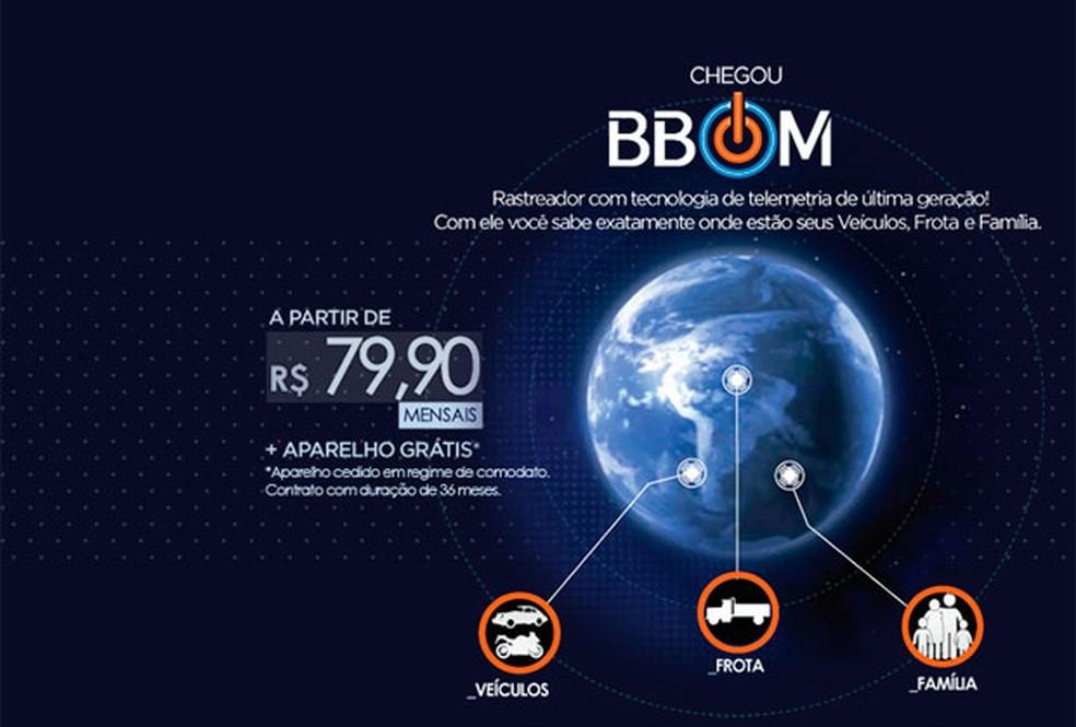 Site da BBom na época das investigações (Foto: Reprodução/Internet)