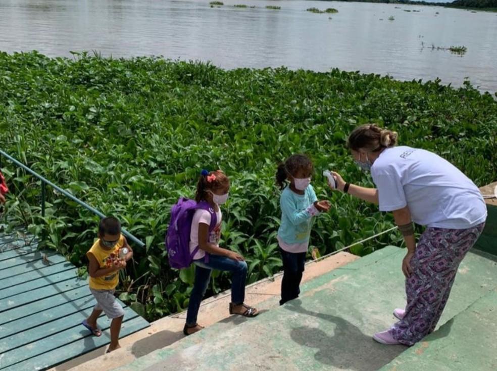 Aulas do Acaia Pantanal chegaram a ser retomadas quando número de casos de Covid-19 estava mais baixo — Foto: Divulgação
