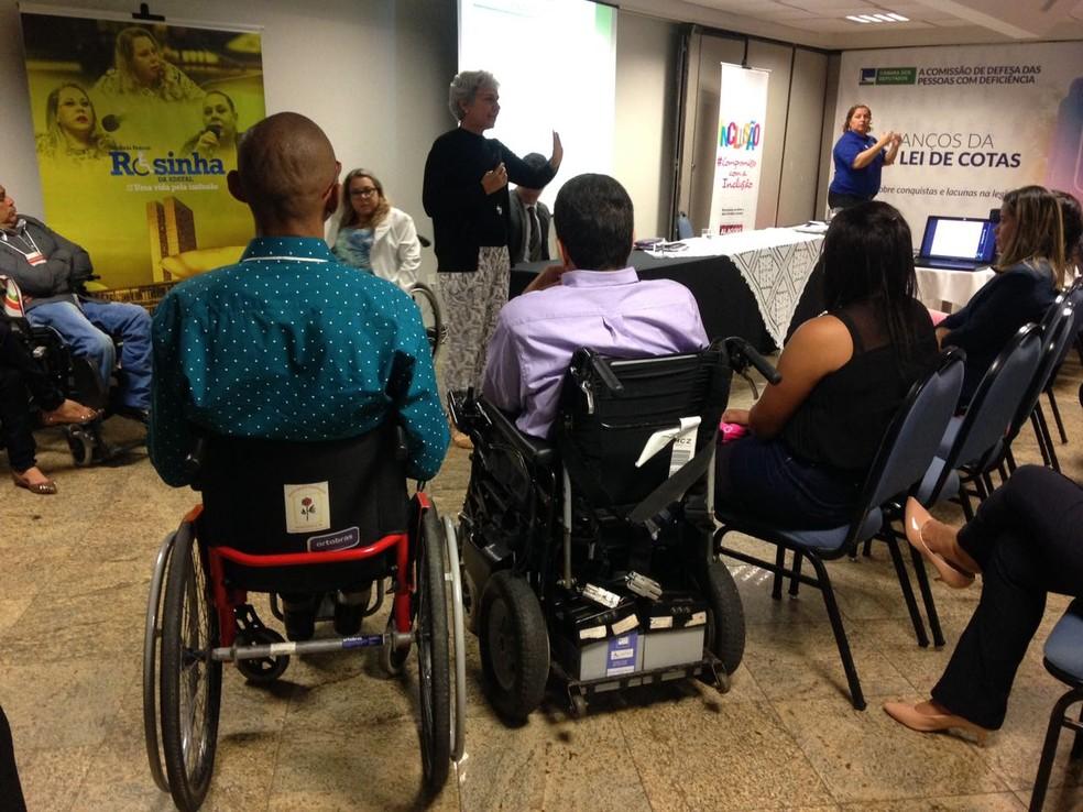 Seminário tem como objetivo falar sobre a importância da inclusão dos deficientes no mercado de trabalho (Foto: Natália Normande/G1)