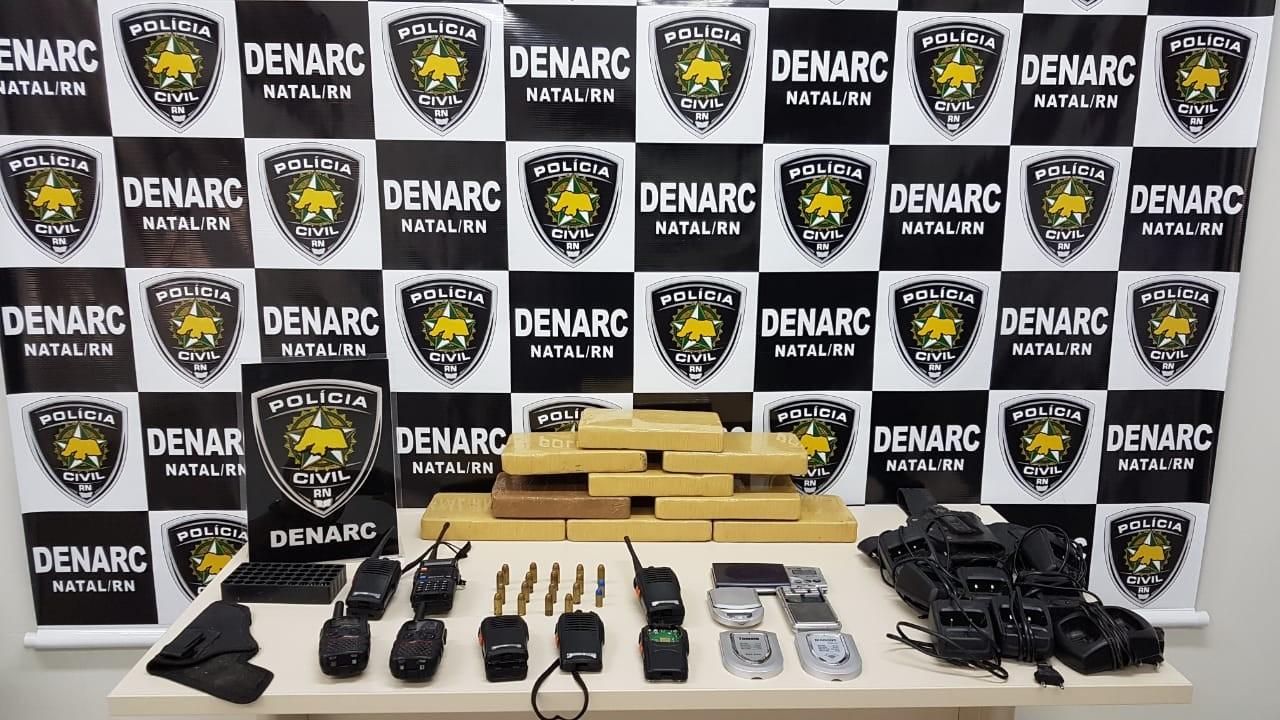 Polícia Civil apreende 9 quilos de cocaína e prende foragido na Zona Leste de Natal - Notícias - Plantão Diário