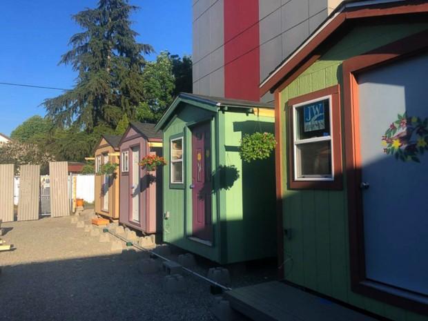Seattle tem vila de Tiny Houses para moradoras de rua (Foto: Divulgação)