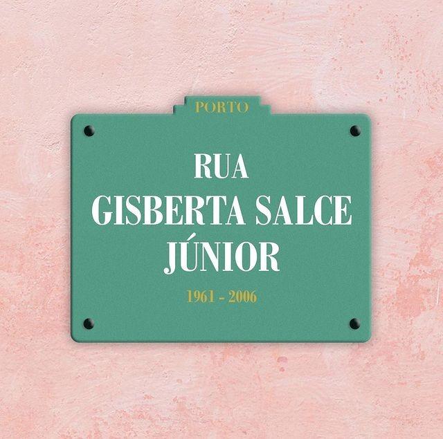 Montagem simula como ficaria a placa de rua em homenagem à Gisberta em Portugal