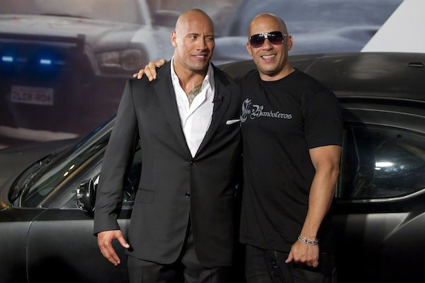 Os atores Dwayne The Rock Johnson e Vin Diesel (Foto: Getty Images)