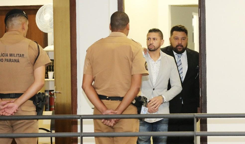 Edison Brittes é acusado de homicídio triplamente qualificado — Foto: Reprodução/RPC