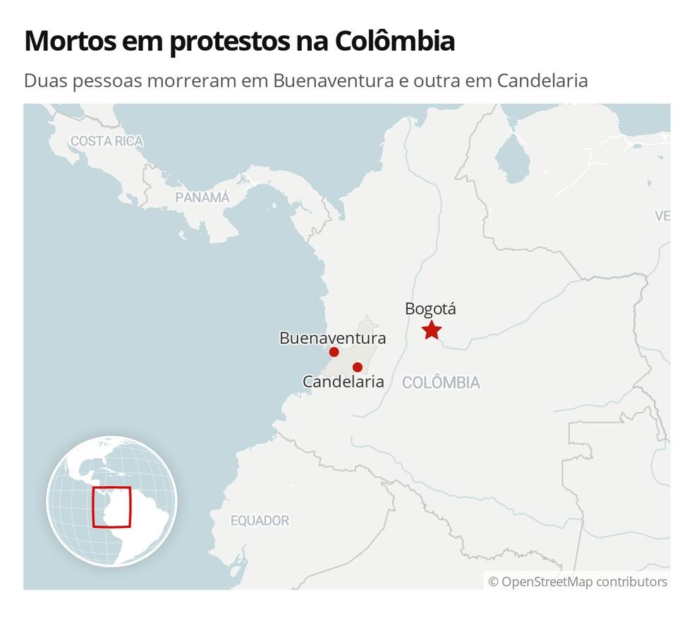 Duas pessoas morreram em Buenaventura e outra em Candelaria — Foto: G1