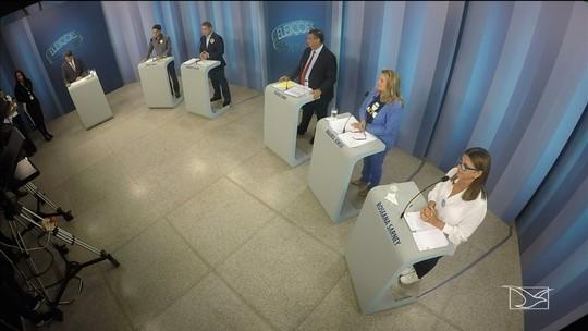 Candidatos ao governo do Maranhão participam de debate na TV Mirante