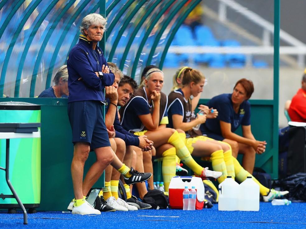 Pia Sundhage também levou a Suécia à final da Olimpíadas do Rio em 2016 — Foto: Getty Images