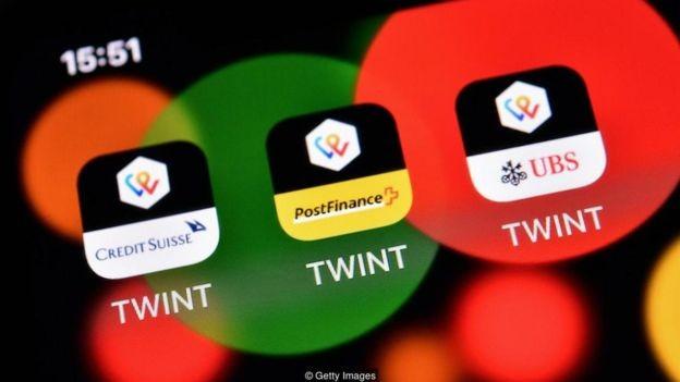 Em comparação com outras nações, os suíços não usam muito os aplicativos de pagamento móvel - mas isso está começando a mudar (Foto: Getty Images/BBC)