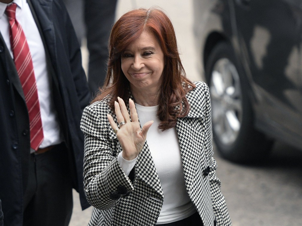 Cristina Kirchner on the second day of hearings in the corruption case she faces - Photo: Juan Mabromata / AFP