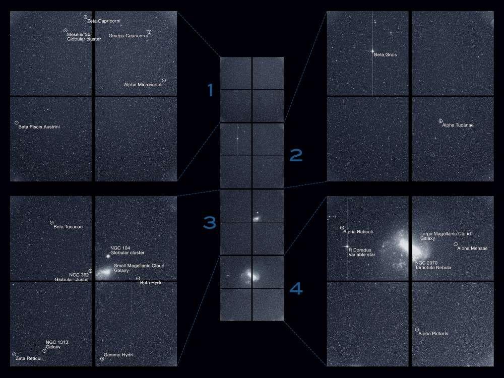 A primeira 'foto' tirada pelo TESS (Foto: Reprodução/NASA)
