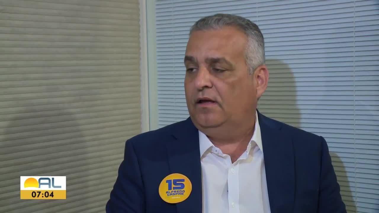 Alfredo Gaspar de Mendonça, candidato à prefeitura de Maceió, é entrevistado pela TV Gazeta