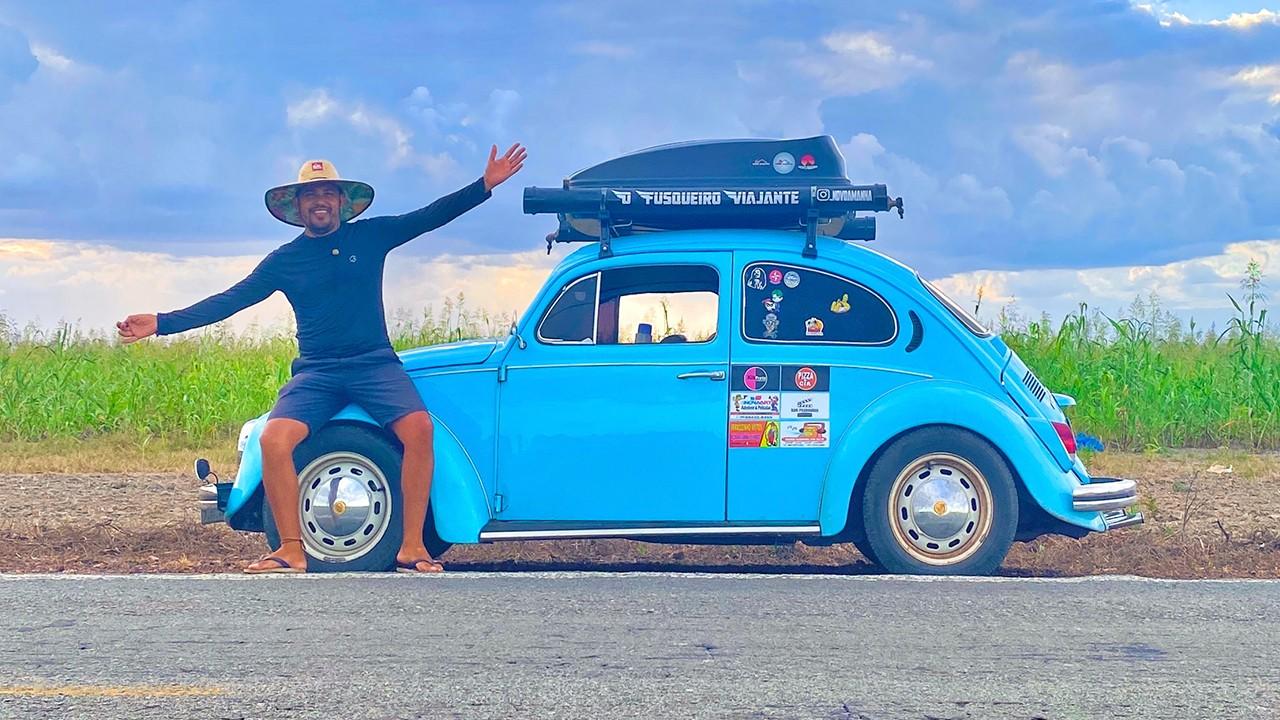 Conheça o vendedor que largou tudo para viajar pelo Maranhão com seu Fusca 1974