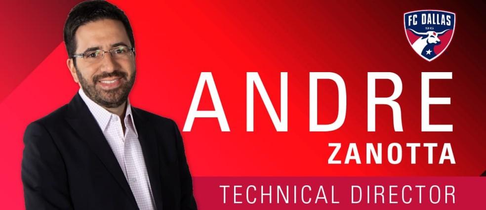 André Zanotta, dirigente do FC Dallas, é um dos nomes na mesa da chapa de Casares para o São Paulo  — Foto: Reprodução