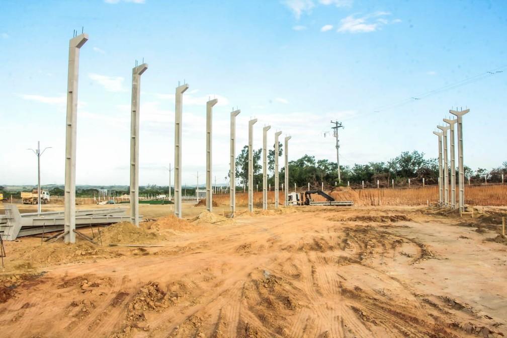 O terreno para a construção do Ceasp é de 90 mil metros quadrados, em São Pedro da Aldeia — Foto: Ascom/Prefeitura de São Pedro da Aldeia