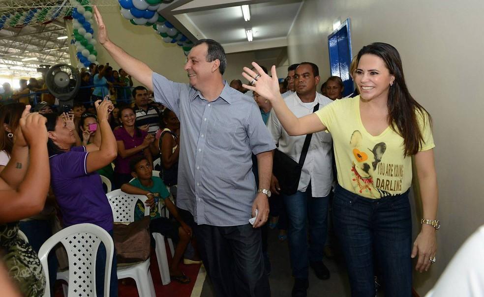 Nejmi é casada com Omar Aziz, ex-governador do Amazonas — Foto: Divulgação