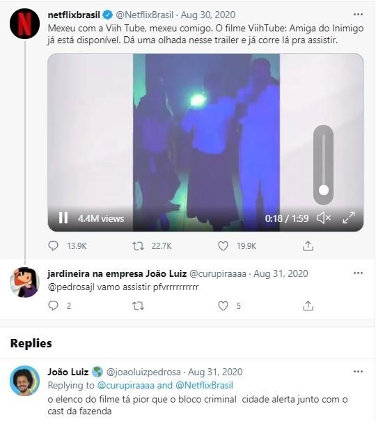 Post antigo de João no Twitter  (Foto: Reprodução)