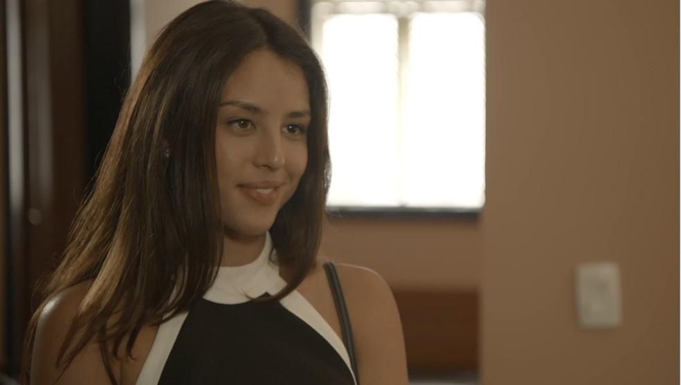 Laura (Yanna Lavigne)  na novela 'O Sétimo Guardião' — Foto: TV Globo