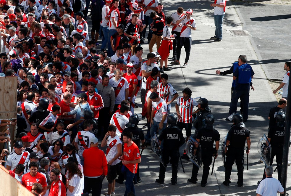 River Plate x Boca Juniors confusão — Foto: Reuters