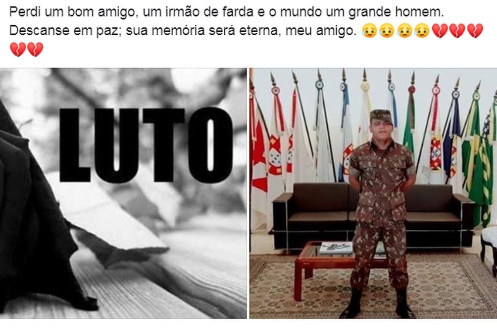 Amigos lamentam a morte de Rafael Santiago.  — Foto: Reprodução/ Facebook