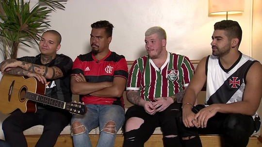 Com direito a paródias, Bruno, Dilsinho, Ferrugem e Suel duelam antes da abertura do Carioca