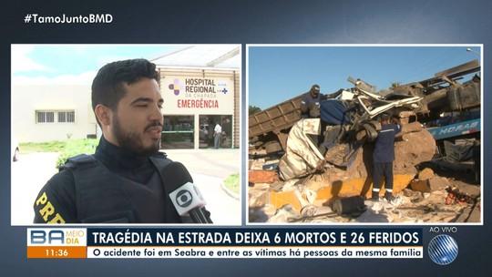Passageiros de micro-ônibus atingido por carreta na Bahia estavam sem cinto de segurança, diz PRF