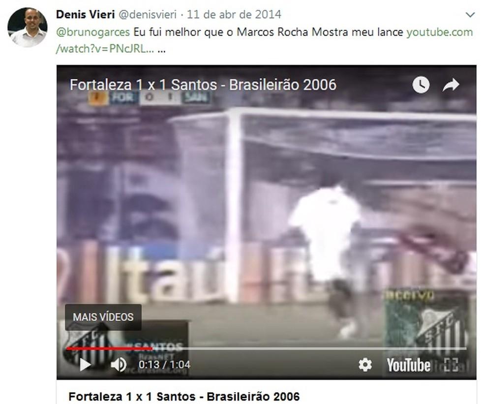 Gol marcado no empate por 1 a 1 foi de Denis de Oliveira Souza (Foto: Reprodução)
