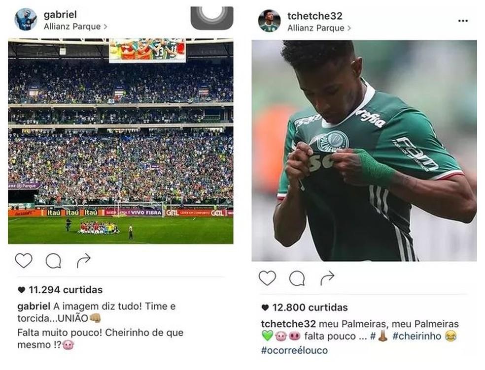Gabrie e, Tchê Tchê tiraram sarro do Flamengo em 2016 — Foto: Reprodução / Instagram