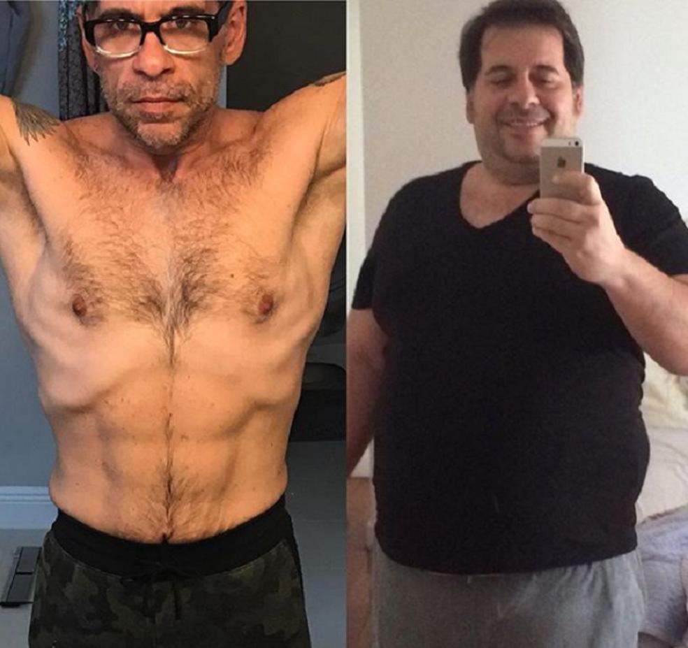 A mudança de Hassum, agora com 62kg a menos e hábitos saudáveis (Foto: Reprodução Instagram)