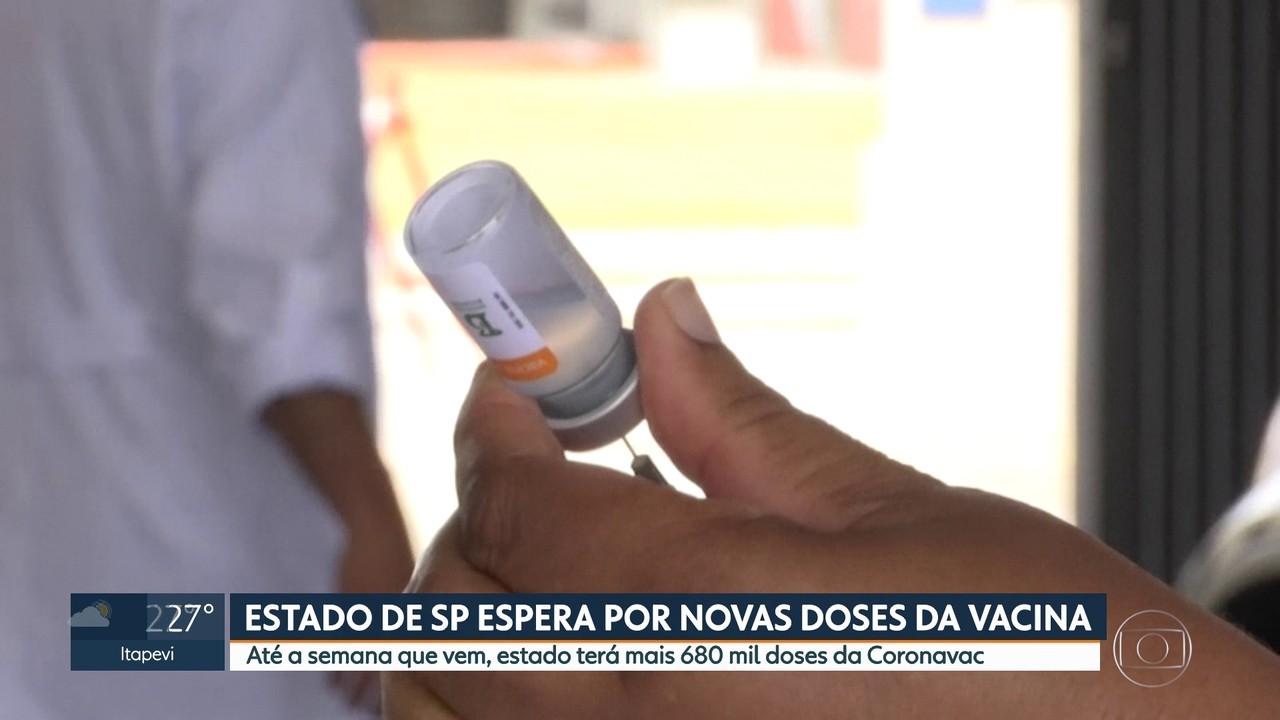 Governo de São Paulo espera o recebimento de mais doses para continuar campanha